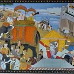 Il sultano Ala-ud-din Khilji leva l'accampamento