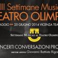 """Le Settimane Musicali al Teatro Olimpico comunicano che, per indisposizione dell'artista, il concerto di Mario Brunello """"Raccontare Bach"""" previsto per l'11 giugno al Teatro Olimpico, è stato rinviato al giorno […]"""
