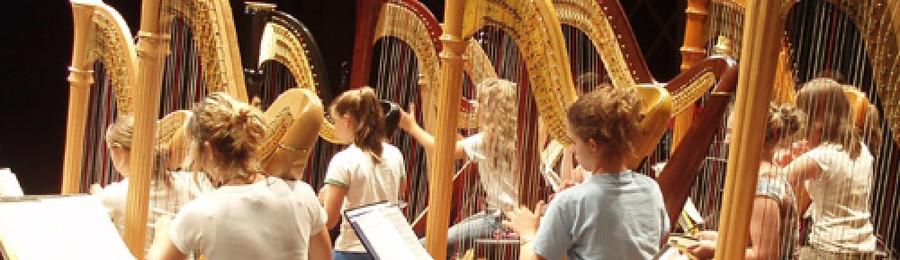 Quindici arpe ed un organo inaugurano i concerti al Santuario della Madonna Pellegrina
