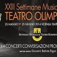 Continuano le conversazioni prima dello spettacolo all'Odeo del Teatro Olimpico, domenica 22 giugno alle 16.30 con Giorgio Appolonia e lunedì 23 giugno alle 18.30 con Alessandro Cammarano.