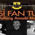 Dal 20 al 25 giugno 2014 Così fan tutte di Mozart al Teatro Olimpico di Vicenza per la XXIII edizione delle Settimane Musicali