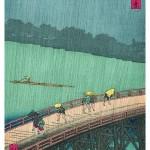 "Utagawa Hiroshige: ""Pioggia serale sul ponte Ohashi ad Atake"""