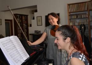 Sonig e Leonora in prova