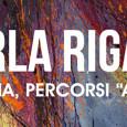 L'artista padovana Carla Rigato che espone una quindicina di opere nello Spazio Espositivo della Farmacia Meltias di Conselve (PD) dal 27 agosto al 30 settembre 2015