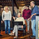 Prove di Norma - da sinistra a destra: Alessia Nadin (Clotilde), Saioa Hernandez (Norma), Tiziano Severini (direttore d'orchestra), Luciano Ganci (Pollione), Paolo Miccichè (regista), Bruno Volpato (maestro collaboratore)