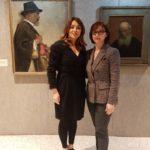 2 da sx Migena Hajdari, direttrice di BluArt con Anila Bitri Lani, Ambasciatore