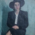 Vangjush Mio, Ritratto della Moglie (1942, olio su tela 98x80)