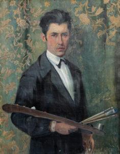 "Vangiush Mio, ""Autoritratto"" (1933, 98 x 80 olio su tela )"