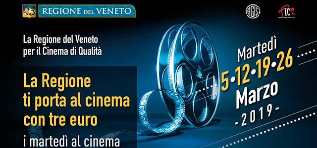 Torna in Veneto il grande cinema a 3 euro
