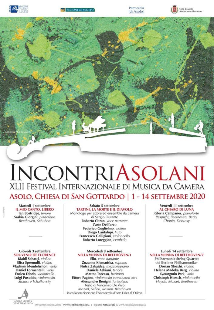 Incontri Asolani XLII Festival Internazionale di musica da Camera
