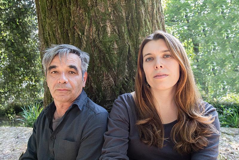 La cantautrice Erica Boschiero e l'attore Vasco Mirandola