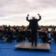 Il tenore Francesco Grollo, il Maestro Francesco Sartori e il Maestro Diego Basso con l'Orchestra Ritmico-Sinfonica Italiana e i cori Art Voice Academy e Opera House per l'inaugurazione del Giardino Laudato si'