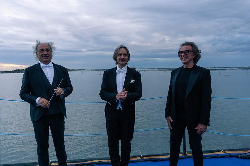 Da Sinistra, il Maestro Diego Basso, il tenore Francesco Grollo e il Maestro Francesco Sartori.