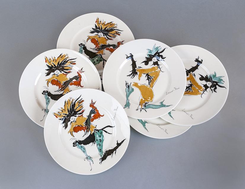 1. Rare porcellane decorate con decalcomanie tratte da disegni di L. Fini e prodotte dalla Societ� Ceramica Italiana (Laveno Mombello, Varese), 1951 circa - � Marianna Accerboni[1]