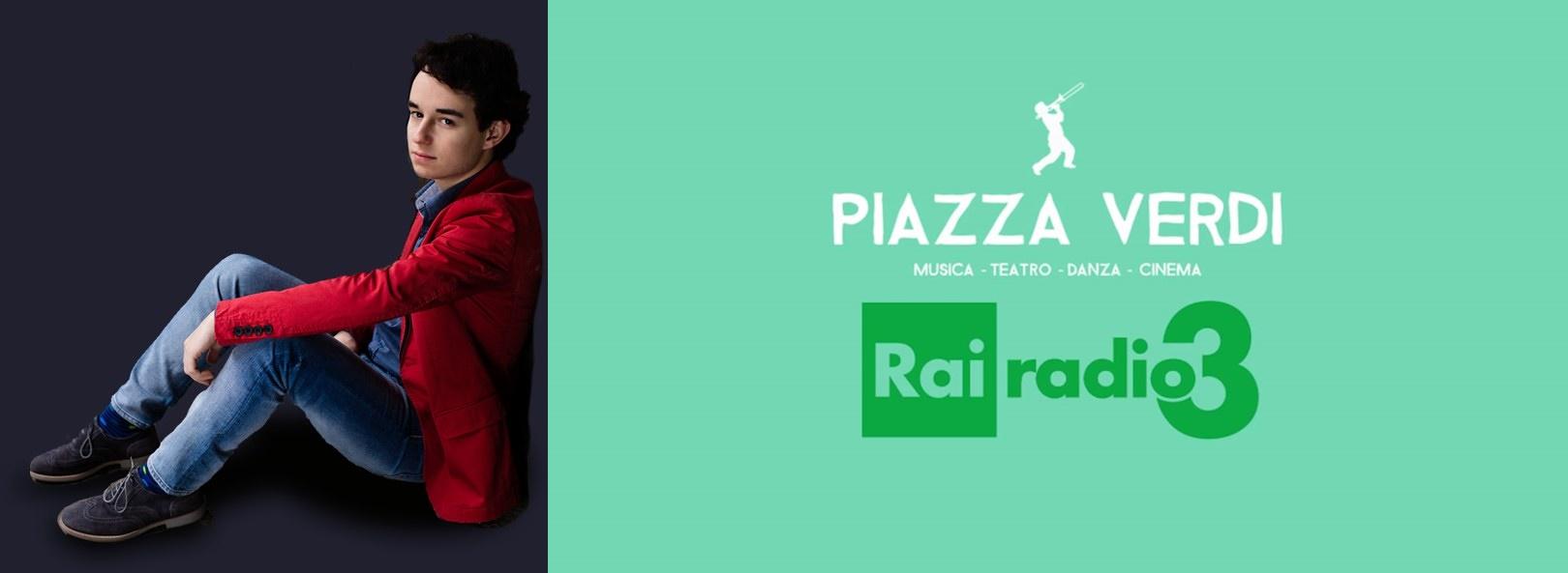 In diretta su Rai Radio Tre per la trasmissione Piazza Verdi il giovane pianista Axel Trolese
