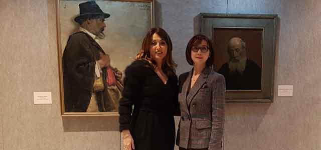 L'Ambasciatore albasese in Italia visita a Venezia la retrospettiva dedicata a Vangjush Mio