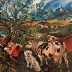 Antonio Ligabue Il pifferaio, s.d. (1943-1945), olio su tavola di co