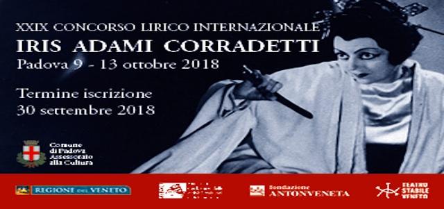 """XXIX edizione Concorso Lirico Internazionale """"Iris Adami Corradetti"""""""